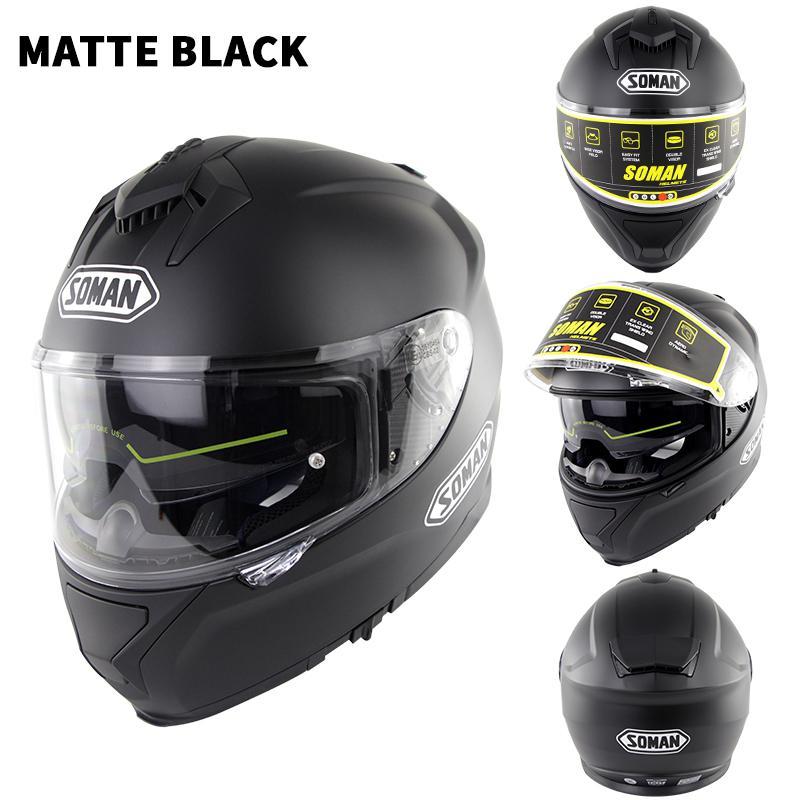 Casque moto rcycle course casque équitation hommes et femmes casque moto cross Double lentilles compatibles avec lunettes casco moto - 4