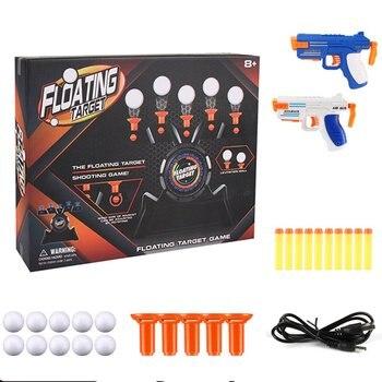 1 Set Air Target Shooting Game Neutral Plastic Luminous Suspension Target Flying Ball Shooting Game Toy 1