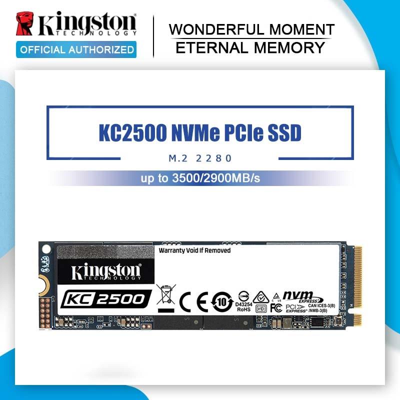 Твердотельный накопитель M2 2280, SSD Kingston M.2, 1 ТБ, 500 Гб, 250 ГБ, HD, NVMe, жесткий диск для ноутбука 1 ТБ, Твердотельный PCIe KC2500