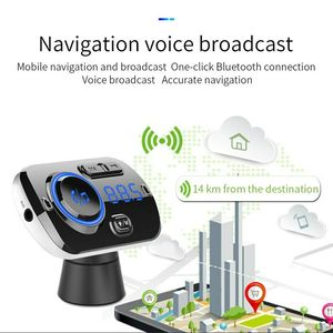 Image 5 - Bluetooth 5.0 Car FM Transmitter Auto FM Modulator Audio Receiver Wireless MP3 Player TF Card Fast Charger with 7 Colors Lamp