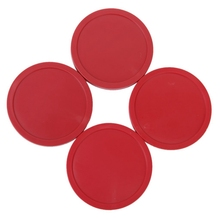 4 PCS Air Hockey Puck Table Arcade Game Pucks 82 mm - Red table top air hockey white color electric powered 32inch indoor recreational air hocky table kids air hockey table