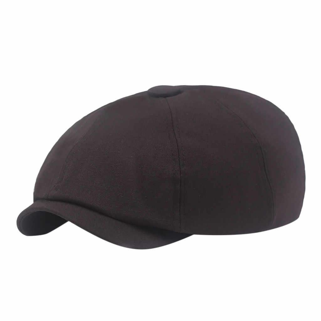 Nón lưỡi trai Cổ Điển cho Nam Nữ Vàng Mùa Đông Đặc Nón Mũ Nồi Nắp Hàn Quốc Họa Sĩ Newsboy Mũ Nồi 19Aug6 P30