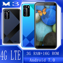 Global 4G LTE Cheap phones Smartphones M3 3GB RAM 16GB ROM 5.5INCH Mobile Phones 13MP Unlocked Android 7.0 celular telephone