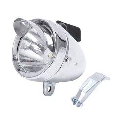 Rowerowa lampa rowerowa przednie światła Retro reflektory Metal srebrny 6 led wodoodporne reflektory wyposażenie do jazdy akcesoria rowerowe