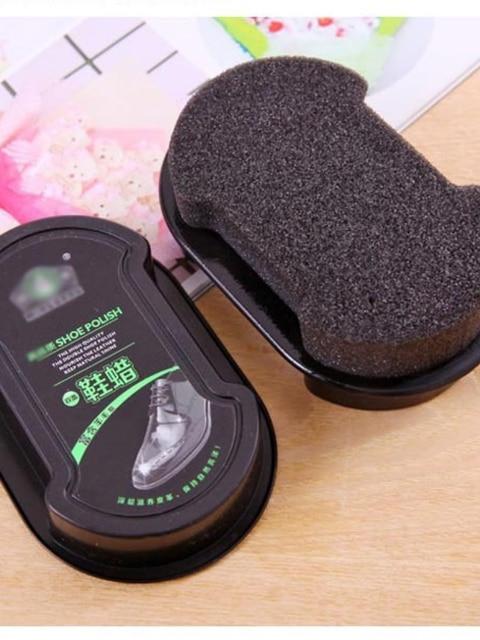 Губка с кремом для чистки обуви бесцветный обувной воск 5