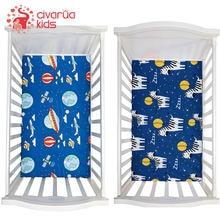 Простыня для детской кроватки 130*70 см простыня с мультяшным