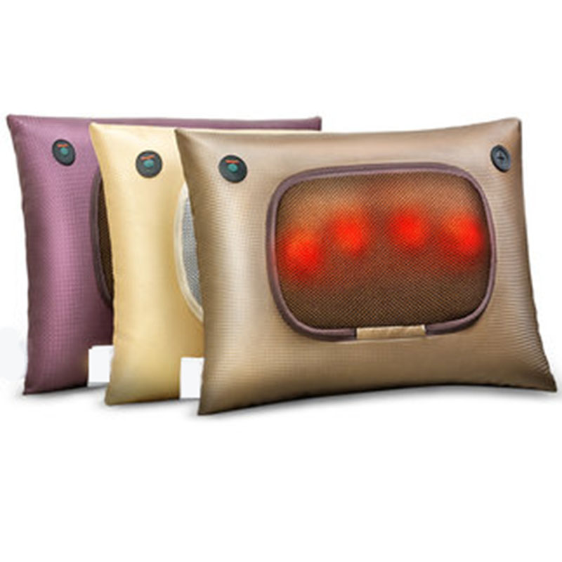Electric Neck Waist Back Abdomen Massage Pillow Home Car Office Small Shiatsu Massager Personal Health Care