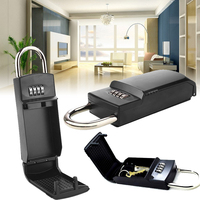 4 Digit Combination Password Key Storage Box Organizer Security Door Padlock Safe Zinc Alloy Free Installation with Hook