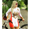 Xama ciclismo verão manga longa das mulheres ciclismo macacão bicicleta wear roupa ciclismo go pro bicicleta sportwear triathlon skinsuit 14
