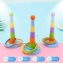 Hoop Anel Toss Ring Toss Jogo Jardim Piscina de Diversão Ao Ar Livre Brinquedo de Plástico Conjunto de Brinquedos Para Crianças Caçoa o Presente