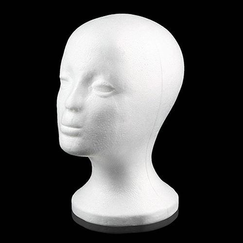 Hot Practical Foam Female Mannequin Head Wigs Glasses Cap Display Holder Stand Model