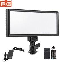 Viltrox l132t led luz de vídeo ultra fino display lcd bi color & pode ser escurecido dslr studio luz painel da lâmpada para câmera dv filmadora