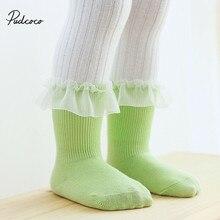 От 0 до 5 лет дышащие хлопковые кружевные сетчатые носки принцессы с оборками Детские короткие носки до щиколотки для новорожденных девочек