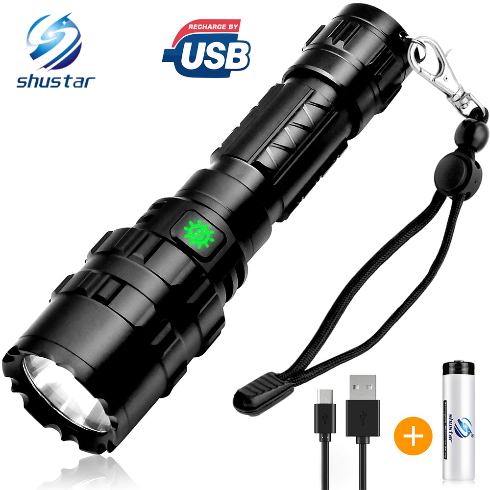 LED Tactical Flashlight The Best Powerful Waterproof Torch Adjustable And Portable Very Suitable For Cycling Hiking Camping
