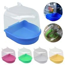 Попугай ванна для птицы Попугай принадлежности для купания ванна для птицы Клетка товары для домашних животных Птица Ванна Душ стоящая корзина мыть пространство