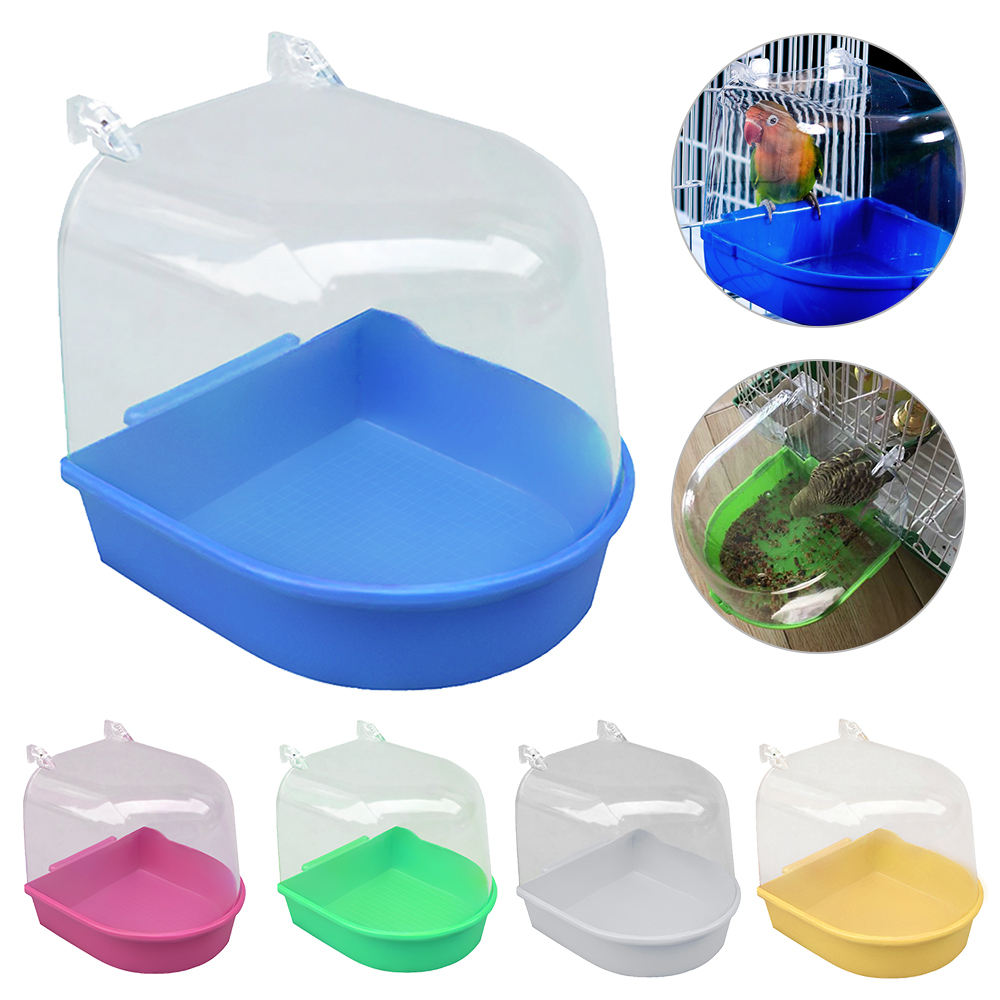 Parrot Bird Bathtub Parrot Bathing Supplies Bird Bathtub Cage Pet Supplies Bird Bath Shower Standing Bin Wash Space