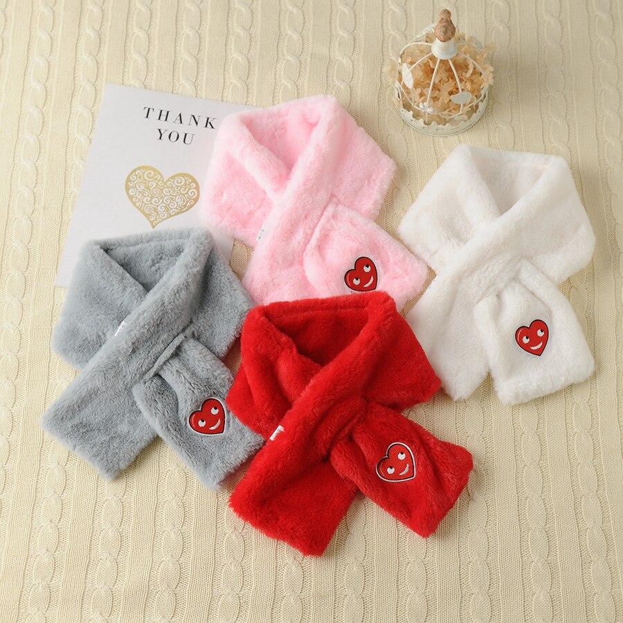 Zh Parent And Child-Imitation Rabbit Fur Scarf Warm Korean-style Autumn & Winter Faux Rabbit Fur Padded Men And Women Baby