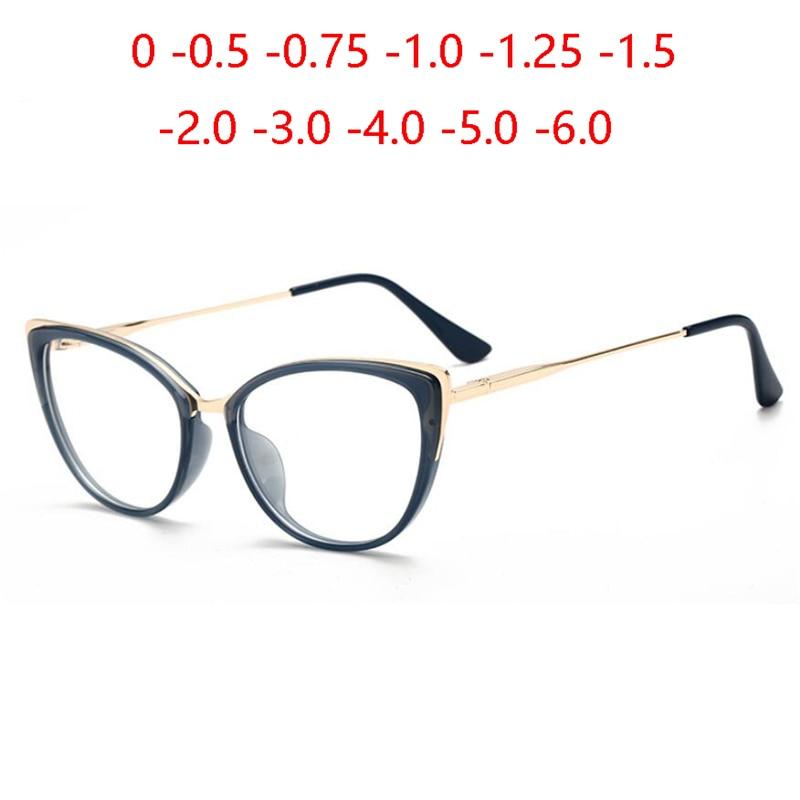 Óculos fotocrômico para mulheres, óculos de grau para miopia, dioptria 0 -0.5 -0.75 -1.0 -2.0 a-6.0