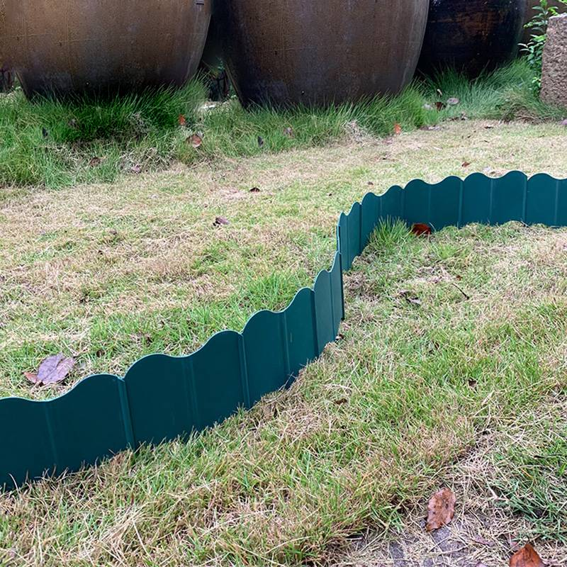 20Pcs Garden Fence Plastic Lawn Edging Plant Border Decorations Flower Bed Border Small S Fence Corridor Decoration