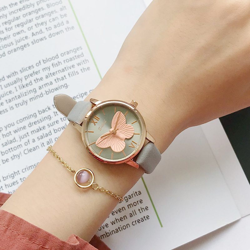 3D Butterfly Creative Leisure Unique Women Quartz Watch Simple Ladies Dress Watch Female Elegant Casual Watches Reloj Mujer