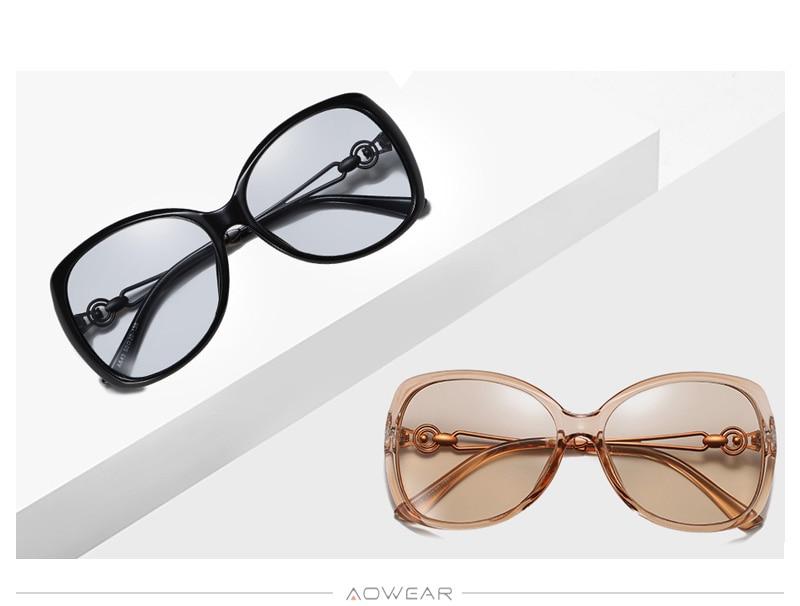 Women Glasses Womens 2020 For Eyewear Brand Polarized Lady Sun Retro Luxury Female AOWEAR Sunglasses Gradient Shades Oversized