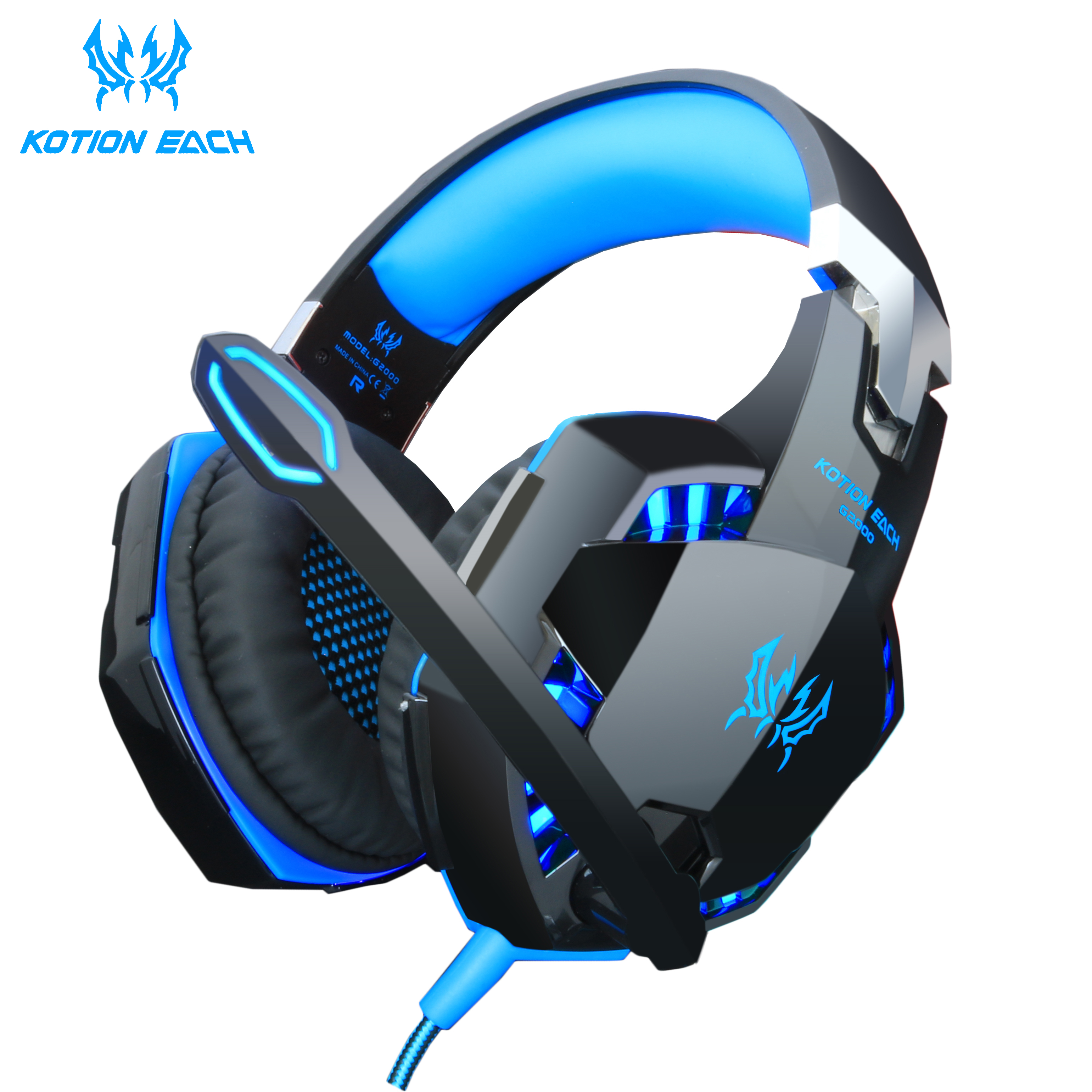 Headset over-ear Wired Game Earphones Gaming Headphones Deep bass Stereo Casque with Microphone for PS4 new xbox PC Laptop gamer(China)
