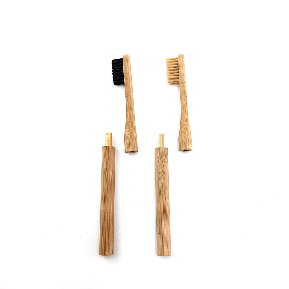 Bamboo Toothbrush With Plug-in Replacement Brush Heads Change Head ToothBush Teeth Care Cleaning Brushes For Travel Living Bath