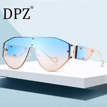 2020 DPZ Fashion Cool Unique Oversize Shield Punk Style Rivets Sunglass