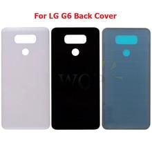 Para lg g6 bateria de vidro voltar capa traseira habitação porta para lg g6 h871 h872 h873 h870k ls993 us997 vs988 peças de reparo