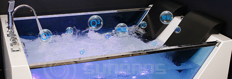 1800mm banheiro banheira de hidromassagem led colorido luzes interior spa duplo pessoas surf massagem banheira 1812-5
