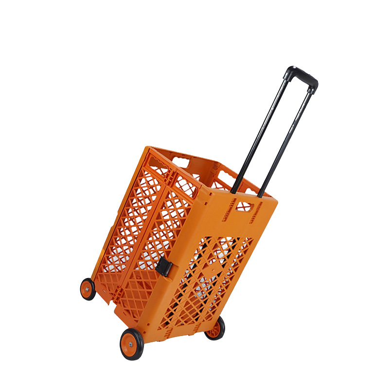 Large Size Folding Four Wheel Shopping Cart Sorting Box For Collection Fishing Box Upgrade Section Customizable New Design Cart