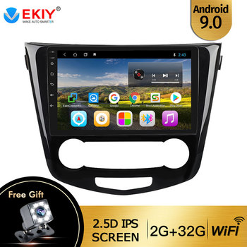 EKIY For Nissan X-Trail Qashqai 2014 - 2017 Auto Radio 2din Android 9 DVD Car Multimedia Video Player Stereo Navigation GPS WIFI image