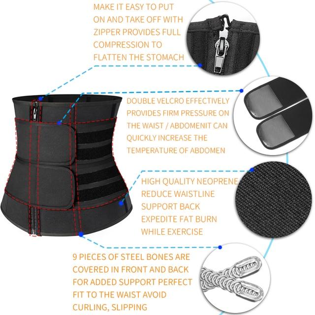 Women Body Shaper Belt Waist Trainer Neoprene Sweat Shapewear Slimming Sheath Belly Reducing Shaper Workout Trimmer Belt Corset 4