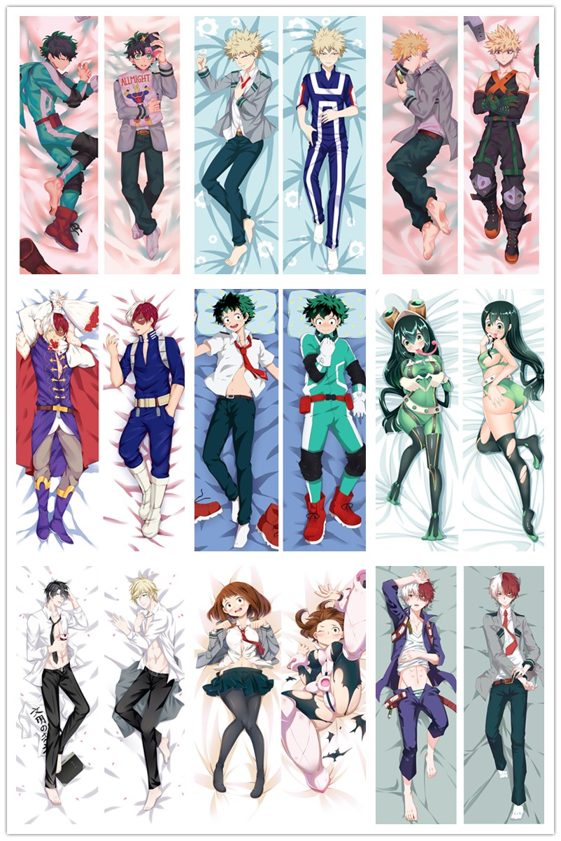 Anime Dakimakura Body Boku No Hero Academia  My Hero Academia 150x50cm 100x35cm Pillow Case Cover Manga