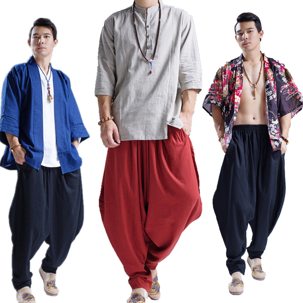 2019 Ma Fan New Products Men'S Wear Loose Casual Arc Pants Ethnic-Style MEN'S Casual Pants