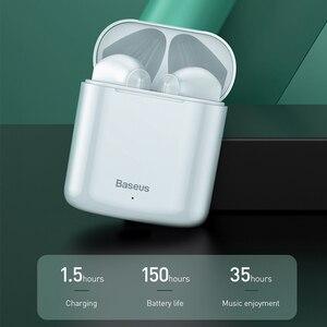 Беспроводные Bluetooth наушники Baseus W09 TWS, интеллектуальное сенсорное управление, беспроводные TWS наушники с стерео басовым звуком, умное подключение