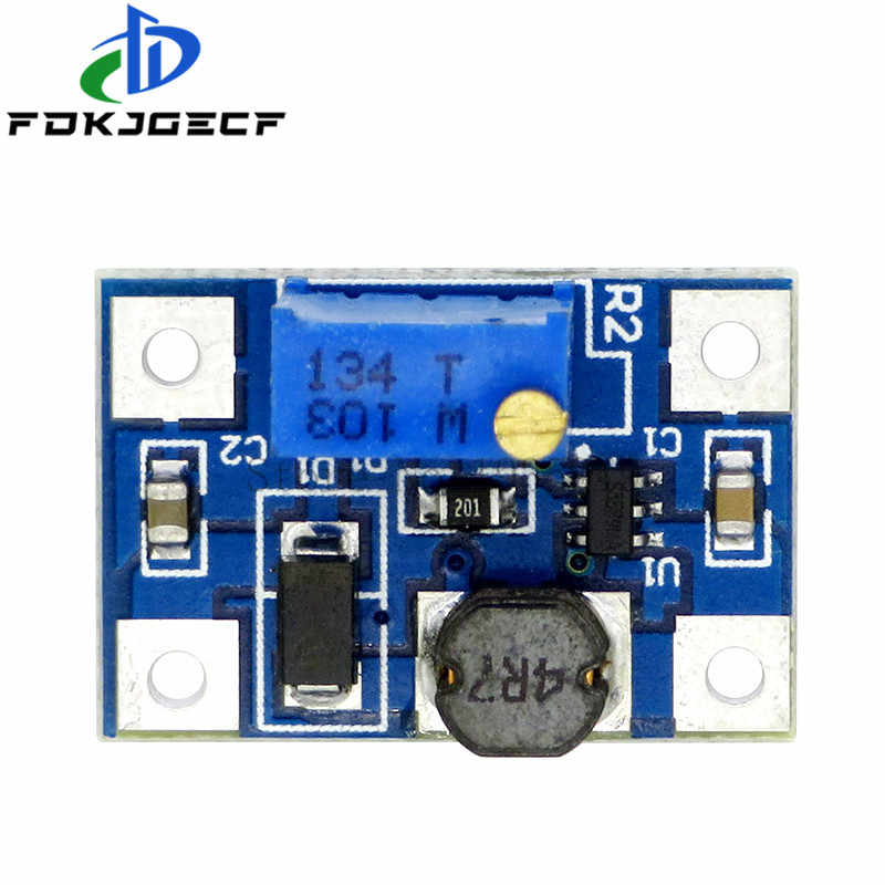 5Pcs DC-DC SX1308 Step-UP Adjustable Power Modul DC DC Step Up Boost Converter Menyesuaikan Power Supply 2-24V untuk 2-28V 2a