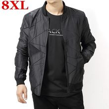plus size 8XL 7XL Spring Autumn Casual Solid Fashion Slim Bomber Jacket Men Overcoat Baseball Jackets Men's streetwear Jacket(China)