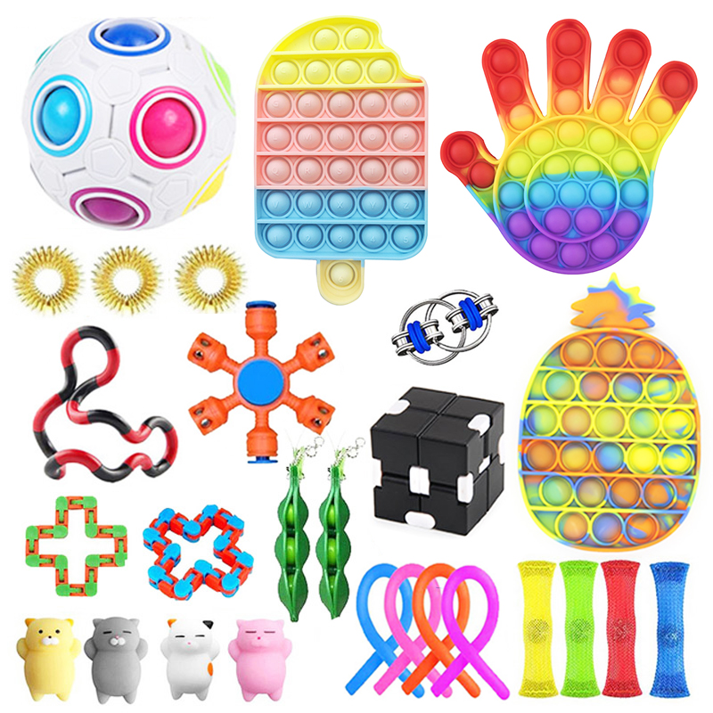 Toys-Pack Fidget Bubble-Squishy Antistress Anxiety Relief-Autism Gift Adults Children img3