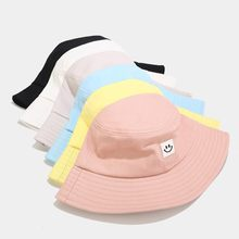 Sun Protection Beach Hat Unisex Adult Women Men Smile Printed Hat Sunscreen Outdoors Cap Foldable Sun Hats 2020 Summer New(China)