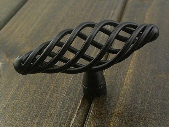 Black Dresser Drawer Knobs Pulls Handles Wrought Iron Look Antique Bronze Kitchen Cabinet Knobs Hardware Rustic Cottage Chic Knob Bakelite Knob Radioknobs Pulls Aliexpress