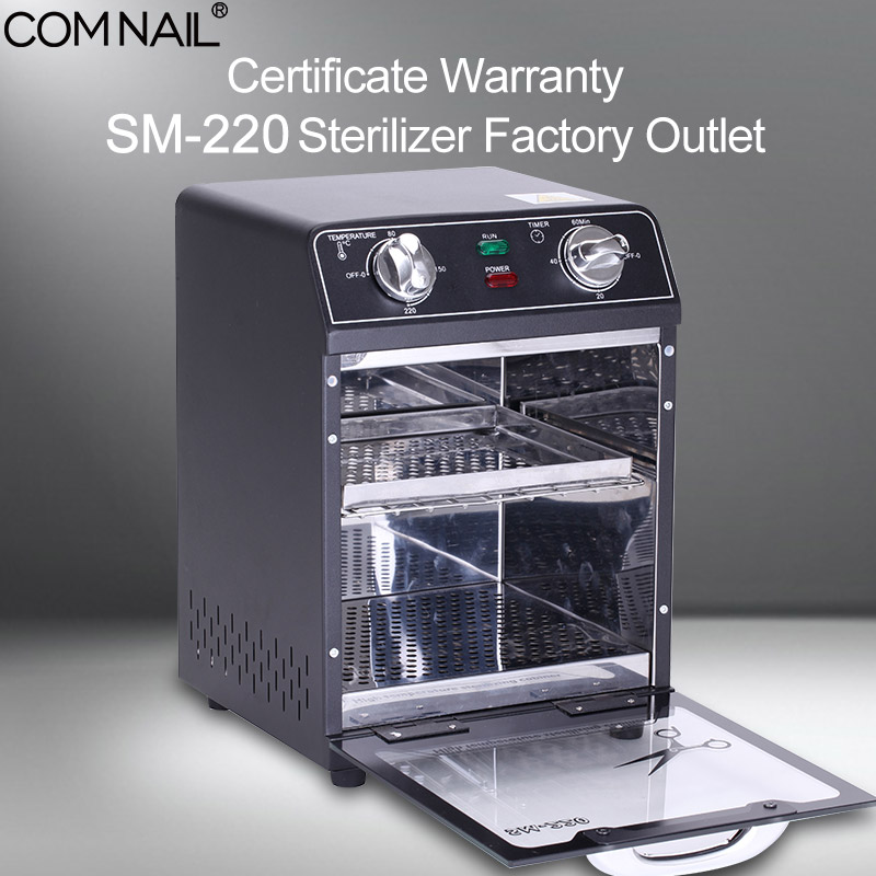 SM-220 Sterilizer Box Certificate Warranty Factory Outlet High Temperature Sterilizing Manicure Dry Heat Machine Nail Art Tools