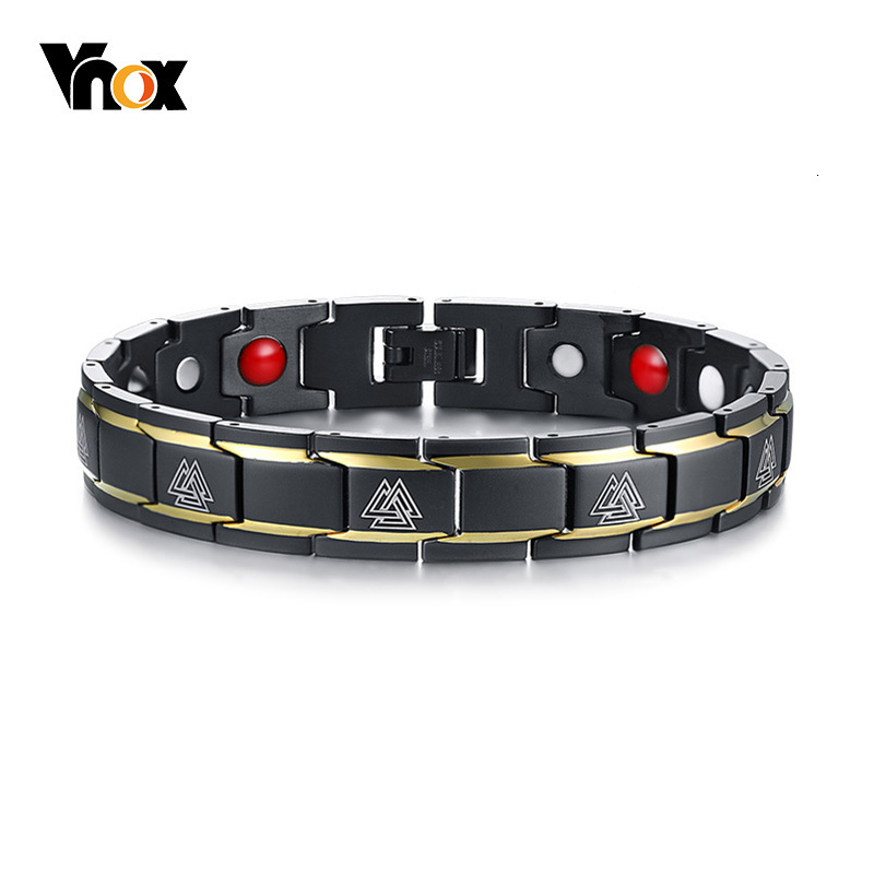 Stainless Steel Anti-fatigue Energy Magnet Germanium Bracelets comfortable code