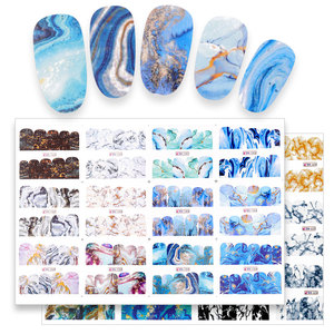 24 Designs Marble Texture Nail