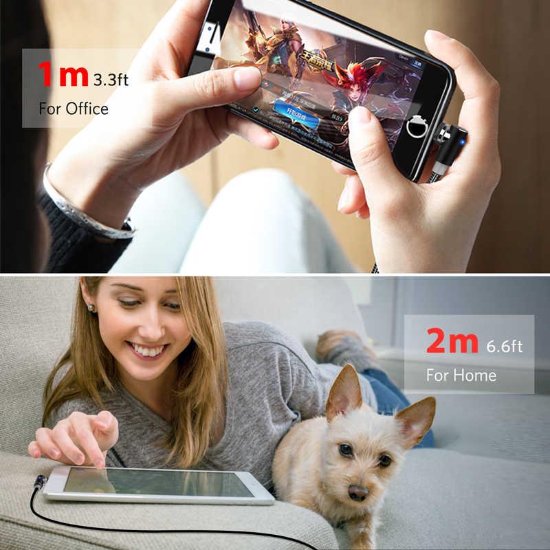 INIU 2m manyetik kablo mikro USB C tipi şarj Android telefonlar için hızlı şarj mıknatıs şarj kablosu iPhone 12 11 Pro XS Max