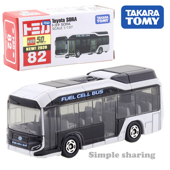 Takara Tomy Tomica No. 82 Toyota Sora Fuel Cell-Omnibus Scale 1/137 Car Hot Pop Kids Toys Motor Vehicle Diecast Metal Model image