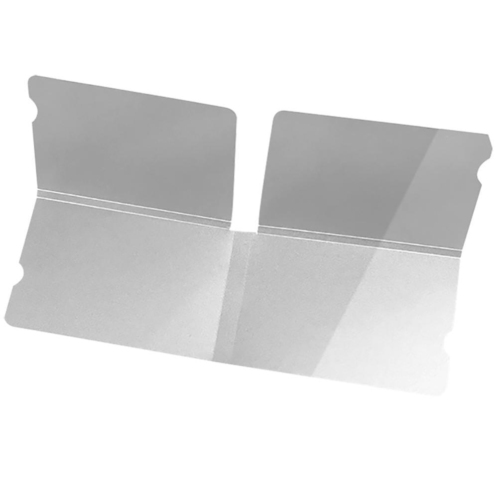 20pcs Clear Portable Plastic Face Masks Storage Clip For Disposable Masks 18.5x6cm