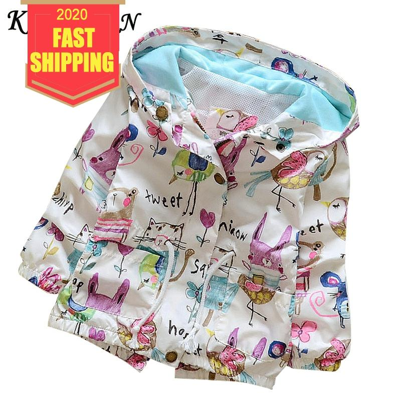Keelorn 2020 Kids Clothes Boys Jacket Children Hooded Zipper Windbreaker Baby Girls Fashion Print Coat Infant Waterproof Hoodies