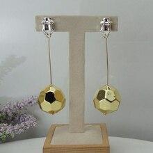 Yuminglai 24K דובאי זהב עגילי איטלקי להתנדנד עגילים לנשים FHK9037