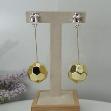 Yuminglai 24K dubaj złote kolczyki włoskie kolczyki Dangle dla kobiet FHK9037